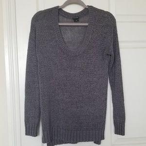 Club Monaco shimmery grey knit sweater
